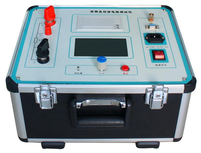 GWZL系列智能回路电阻测试仪是根据中华人民共和国最新电力执行标准DL/T845.4- 2004,采用高频开关电源技术和数字电路技术相结合设计而成。它适用于开关控制设备回路电阻的测量。其测试电流采用国家标准推荐的直流100A和200A。可在电流100A、200A的情况下直接测得回路电阻,最后的测试结果用大屏幕液晶LCD显示,并有数据存储、输出打印、时间设置等功能。另有50A、150A档位供用户选择。该仪器测量准确、性能稳定,符合电力、供电部门现场高压开关维修和高压开关厂回路电阻测试的要求。 适用于高压开